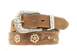 Women's Ariat Belt with Floral and Rhinestone Detail by M&F Western Products, Inc.