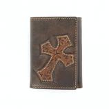 Trifold Diagonal Cross Wallet