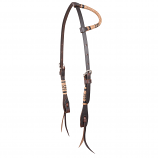 Chocolate Rawhide Braided One Ear Headstall by Martin Saddlery
