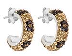 Ladies Black and Gold Earrings By Kelly Herd
