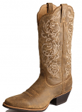 Womens Rounded Toe Distressed Brown Twisted X Boot