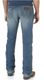 Men's Retro Cottonwood Wash Slim Fit Straight Let Open Pocket Jean by Wrangler