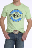 Men's Green Cotton-Poly Tee By Cinch