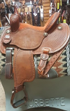 "13 1/2"" FX3 Full Rust Suede Seat by Martin Saddlery"