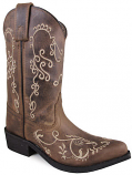 Kid's Jolene Brown Waxed Distressed Boot by Smoky Mountain