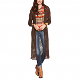 Women's Chocolate Claire Duster Sweater by Ariat