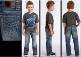 Boy's Medium Wash BB Gun Boot Cut Jeans by Rock and Roll Cowboy