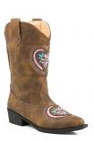 Kid's Glitter Daisy Heart Western Boot by Roper