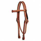 "3/4"" Old West Tooled Browband Headstall by Circle Y"