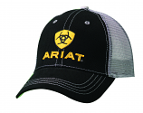 Men's Black and Gold Ariat Ball Cap by M&F