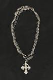 Women's Triple Chain Cross Charm Boot Bracelet by M&F Western Products, Inc.