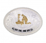 All Gave Some, Some Gave All Belt Buckle by Montana Silversmiths