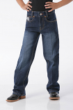 Boy's Dark Wash White Label Jeans by Cinch