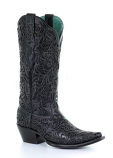 Women's Black Full Inlay Boot by Corral