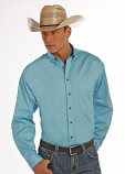 Men's Long Sleeve Solid Twill Button By Panhandle Slim (More colors available)