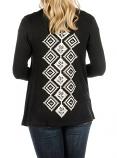 Women's Black Diamond Column Cardigan by Liberty Wear