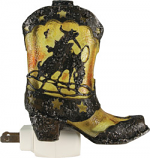 Cowboy Boot Night Light with Sensor by Rivers Edge