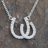 Double Horseshoe Necklace by Kelly Herd