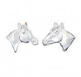 Little Silver Horse Head Earrings by Montana Silversmiths