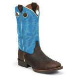 Kid's Chocolate Brown Buffalo Boot by Justin