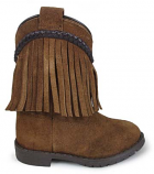 Kid's Brown Suede Fringe Hopalong Boot for Toddlers by Smoky Mountain Boots