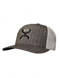 Dark Grey Pin Stripe Mesh Snap Back Hat by Hooey