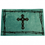 Cross Bath Mat by HiEnd Accents (More Colors Available)
