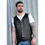 Men's Interstate Shooter Leather Vest by Carroll Companies