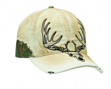 Men's Distressed Deer Skull Ball Cap by M & F Western Products