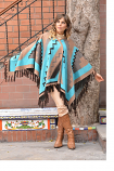 Women's Baby Alpaca Southwest Cape by Peruvian Perfection