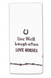 Live Well Kitchen Towel by Kay Dee Designs