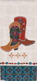 Southwest at Heart Boots Tea Towel by Kay Dee Designs