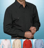 Solid Men's Long Sleeve Western Shirts from Ely Cattlemen - More Colors