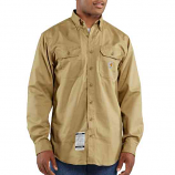 Men's Flame-Resistant Lightweight Twill Long Sleeve Shirt by Carhartt