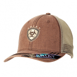Men's Faded Brown Shield Ball Cap by Ariat
