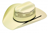 Twister Bangora Bone Straw Hat by M&F