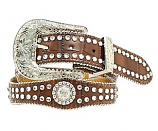 Kid's Rhinestone and Crocodile Print Belt by Nocona