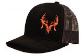 Black and Orange Texas Trophy Hunter Association (TTHA) Snapback Hat by Oil Field Hats, LLC