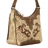 Annie's Secret Distressed Cream Shoulder Bag by American West