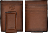 Men's Brown Leather Money Clip Wallet by 3D Belt Company