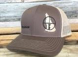 Brown Open Season Coyote Hunter Snapback Hat by Oil Field Hats, LLC
