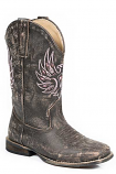 Kid's Distressed Leather Metallic Phoenix Boot by Roper
