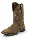Women's George Strait Embossed Golden Oak Crazy Horse Boot by Justin