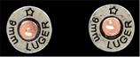 Silver Strike Shotgun Shell Earrings by 3D Belt Company