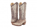 Women's Brown Crater Bone Embroidery Boot by Corral