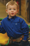 Boy's Long Sleeve Royal Blue Toddler Western Shirt by Cinch
