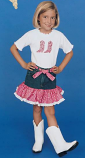 Kid's Raspberry Bandanna Skirt Outfit by Kiddie Korral