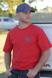 Men's Red Jersey Tee by Cinch