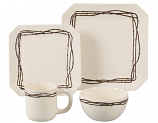 16-PC Barbwire Dinnerware Set by Homemax