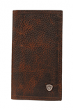 Rodeo Shield Brown Rowdy Wallet by Ariat